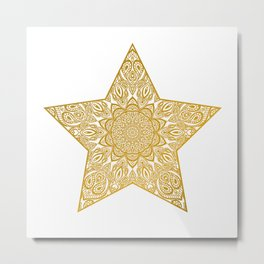 gold star Metal Print