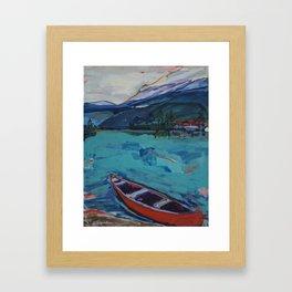 Red Canoe Framed Art Print
