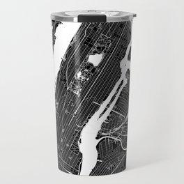 New York City Black And White Map Travel Mug