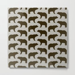 Bear Pattern Metal Print