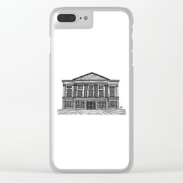Shrewsbury Museum and Art Gallery, Black and White Clear iPhone Case