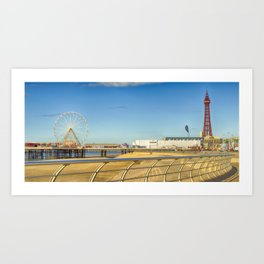The North Pier Blackpool Art Print