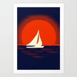 GWM Sailboat Art Print
