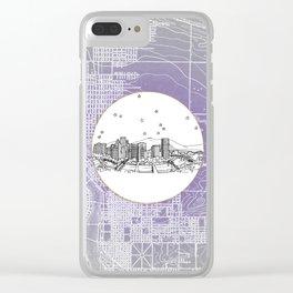 Portland, Oregon City Skyline Illustration Drawing Clear iPhone Case