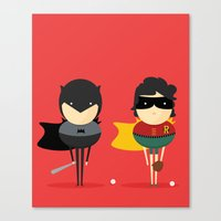 super heroes Canvas Prints featuring Heroes & super friends! by Juliana Rojas | Puchu