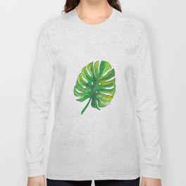Monstera leaf Long Sleeve T-shirt