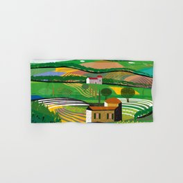 Green Fields Hand & Bath Towel