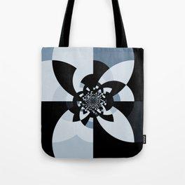 Steel Blue Black Kaleidoscope Tote Bag