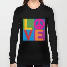 Love Peace Color Blocked Long Sleeve T-shirt