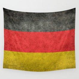 German National flag, Vintage retro patina Wall Tapestry