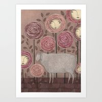 sleeping beauty Art Prints featuring Sleeping beauty by Judith Clay