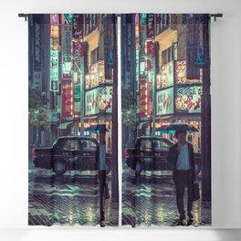 The Smiling Man // Rainy Tokyo Nights Blackout Curtain