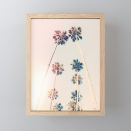 Vintage Pastel Palm trees Framed Mini Art Print