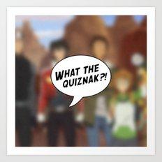 Voltron: What The Quiznak?! Art Print
