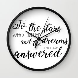 to the stars who listen (acomaf) Wall Clock