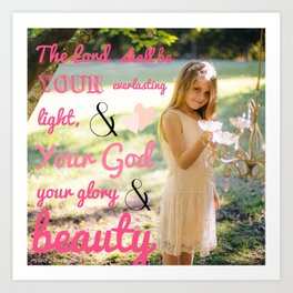 Incorruptible Beauty (scripture) Art Print