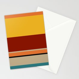 A lovely federation of Police Blue, Ugly Blue, Putty, Desert, Urobilin, Brownish Orange, Rusty Red, Kenyan Copper and Chinese Black stripes. Stationery Cards