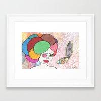 makeup Framed Art Prints featuring Makeup by Sarah Kay Napier