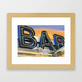 Bar. Framed Art Print