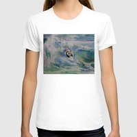 surfer T-shirts featuring Panda Surfer by Michael Creese