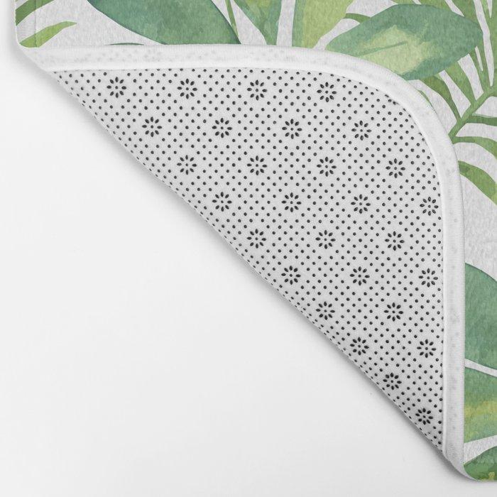 Tropical Branches Pattern 01 Bath Mat