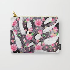 Tropical Leaf - Philodendron Black Pink Carry-All Pouch