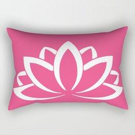 The white lotus Rectangular Pillow