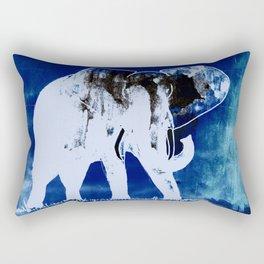 Elephant (blue version) Rectangular Pillow