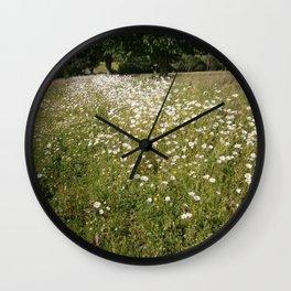 Path of Daisies Wall Clock