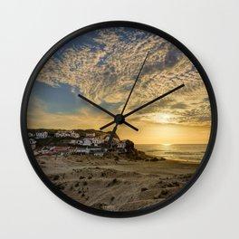 Monte Clerigo fishing village on the West Coast of Portugal Wall Clock