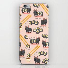 French bulldog maki sushi iPhone Skin