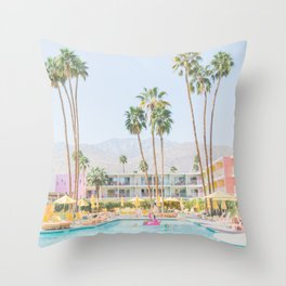 palm springs Throw Pillow