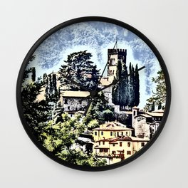 Duomo of Barga (dramatic) Wall Clock