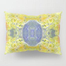 Psycho - UFO Landing in Golden Field surrounded by Inhabitable Lands by annmariescreations Pillow Sham