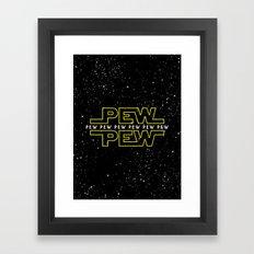 Pew Pew v2 Framed Art Print