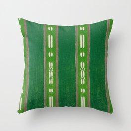 Green And Pink Decor Stripes Japanese Shima-Shima Pattern Throw Pillow