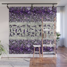 Amethyst Yoga Asanas  on mother of pearl Wall Mural