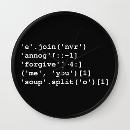 Rick Roll in Python Wall Clock