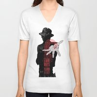 tom waits V-neck T-shirts featuring Tom Waits by J.C.D