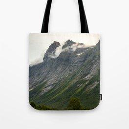 beautiful rugged mountain in norway Tote Bag