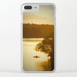 lone kayaker Clear iPhone Case