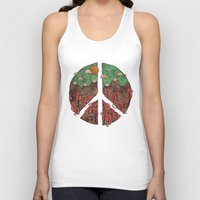 landscape Tank Tops featuring Peaceful Landscape by Hector Mansilla