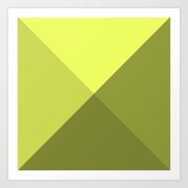 Simple , neon yellow Art Print