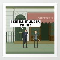 221b Art Prints featuring Sherlock 221B by FuliFuli