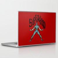 superhero Laptop & iPad Skins featuring SuperHero by Logan_J