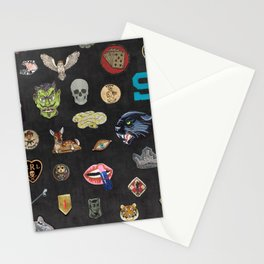 Vintage patches NOIR Stationery Cards