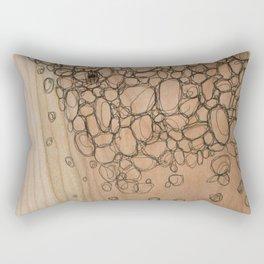 Wooden Pebbles Rectangular Pillow