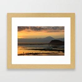 Mt. Rinkjani at Dusk Framed Art Print