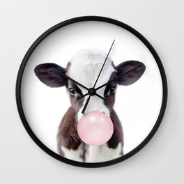 Bubble Gum Cow Wall Clock