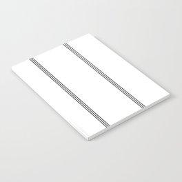 Minimal Black White Stripe Glam #2 #lines #decor #art #society6 Notebook